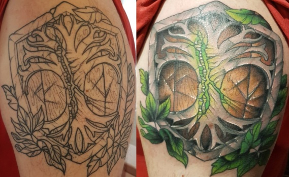 tattoo before & after